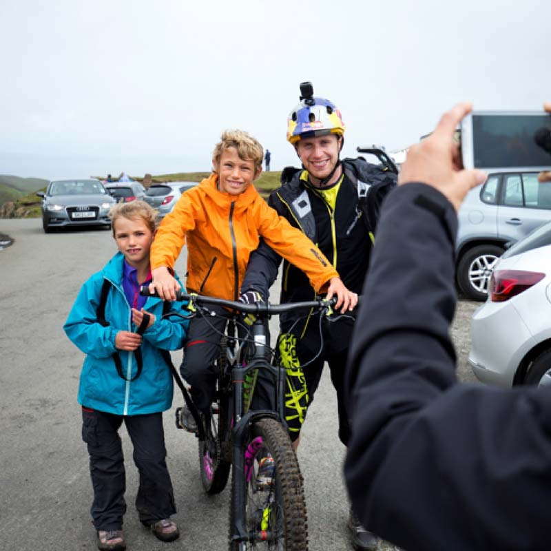 Danny Macaskill, supporter and patron of the project.